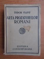Anticariat: Tudor Vianu - Arta prozatorilor romani (1941)