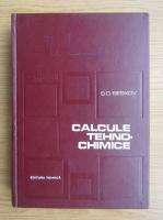 Anticariat: S. D. Beskov - Calcule tehno-chimice