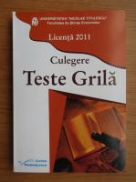 Anticariat: Universitatea Nicolae Titulescu, licenta 2011. Culegere teste grila
