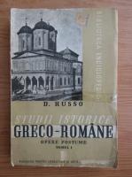 Anticariat: D. Russo - Studii istorice greco-romane (volumul 1, 1939)