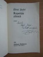 Anticariat: Elena Stefoi - Repetitie zilnica (cu autograful si dedicatia autoarei pentru Jozsef Balogh)