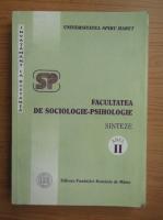 Anticariat: Facultatea de sociologie-psihologie