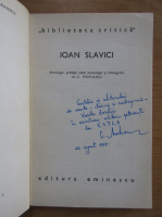 Anticariat: Ioan Slavici (cu autograful si dedicatia lui C. Mohanu)