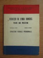 Mariana Guiu - Exercitii de limba romana pentru anul pregatitor. Structuri verbale pronominale