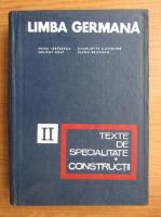 Anticariat: Mihai Isbasescu, Helmut Kelp - Limba germana, volumul 2. Texte de specialitate. Constructii