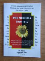 Anticariat: Revista Pro Memoria, nr. 3, septembrie 2010