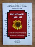 Anticariat: Revista Pro Memoria, nr. 4, decembrie 2007