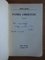 Anticariat: Matei Gavril - Patria libertatii (cu autograful autorului)