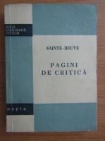 Anticariat: Sainte-Beuve - Pagini de critica