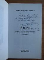 Toma George Maiorescu - Poezii (cu autograful autorului)