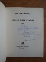 Toma George Maiorescu - Ratimp intre cuvinte (cu autograful si dedicatia autorului pentru Balogh Jozsef)