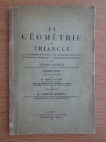 Traian Lalescu - La geometrie du triangle (1937)