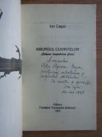 Ion Cepoi - Amurgul cuvintelor (cu autograful autorului)