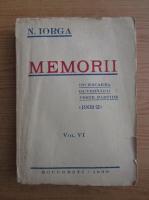Nicolae Iorga - Memorii (volumul 6, 1939)