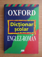 Anticariat: Oxford, dictionar scolar englez-roman