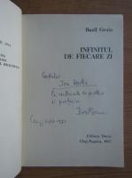 Anticariat: Bazil Gruia - Infinitul de fiecare zi (cu autograful autorului)