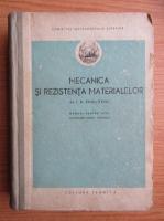 Anticariat: I. N. Veselovski - Mecanica si rezistenta materialelor