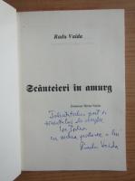 Anticariat: Radu Vaida - Scanteieri in amurg (cu autograful autorului)