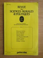 Revue des sciences morales et politiques