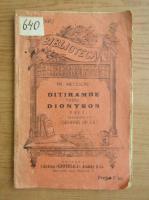 Anticariat: Friedrich Nietzsche - Ditirambe catre Dionysos (1930)