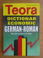 Anticariat: Nicolae Ionescu Crutan - Dictionar german-roman