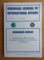Romanian journal of international affairs, volumul 9, 2003