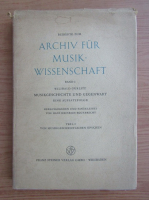 Anticariat: Wilibald Gurlitt - Musikgeschichte und Gegenwart, volumul 1
