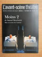 Anticariat: Samuel Benchetrit - L'avant-scene theatre. Moins 2