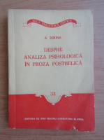Anticariat: A. Siskina - Despre analiza psihologica in proza postbelica