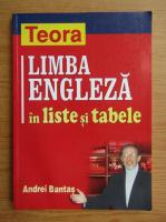 Andrei Bantas - Limba engleza in liste si tabele