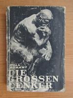 Anticariat: Will Durant - Die Grossen denker (1930)