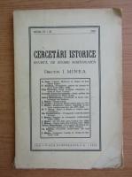 Anticariat: I. Minea - Cercetari istorice. Revista de istorie romaneasca, anul IV-II, 1929