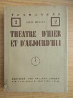 Anticariat: Jules Marsan - Theatre d'hier et d'aujourd'hui (1926)