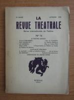 Anticariat: La revue theatrale, anul 5, nr. 14