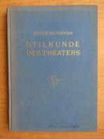 Anticariat: Artur Kutscher - Stilkunde des theaters (1936)
