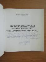 Anticariat: Nadia Cella Pop - Senioria cuvantului (cu dedicatia autoarei pentru Florin Piersic)