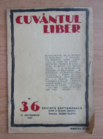 Revista Cuvantul Liber, nr. 36, septembrie 1924