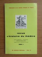 Anticariat: Revue d'histoire du theatre, nr. 1, 1982