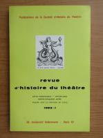Anticariat: Revue d'histoire du theatre, nr. 1, 1983