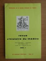 Anticariat: Revue d'histoire du theatre, nr. 1, 1985