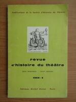 Anticariat: Revue d'histoire du theatre, nr. 3, 1959