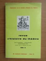 Anticariat: Revue d'histoire du theatre, nr. 3, 1981