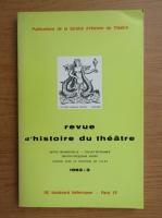 Anticariat: Revue d'histoire du theatre, nr. 3, 1983