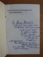 Anticariat: Cristeian Petre Arges - Scrisori catre fiii nostri (cu dedicatia autorului pentru Florin Piersic)