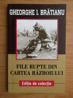 Gheorghe I. Bratianu - File rupte din cartea razboiului