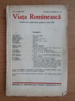 Revista Viata Romaneasca, anul XXVII, nr. 9-10, septembrie-octombrie, 1935