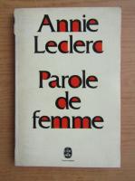 Anticariat: Annie Leclerc - Parole de femme