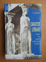 Anticariat: I. Oprisan - Cariatide literare