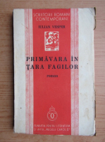 Anticariat: Iulian Vesper - Primavara in tara fagilor (1938)