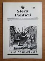 Anticariat: Revista Sfera Politicii, anul VI, nr. 55, 1997